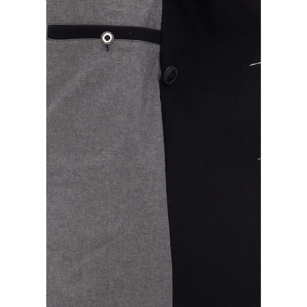 Mexx Kurzjacke, Modische Wolljacke mit Schalkragen und Ripp-Detail