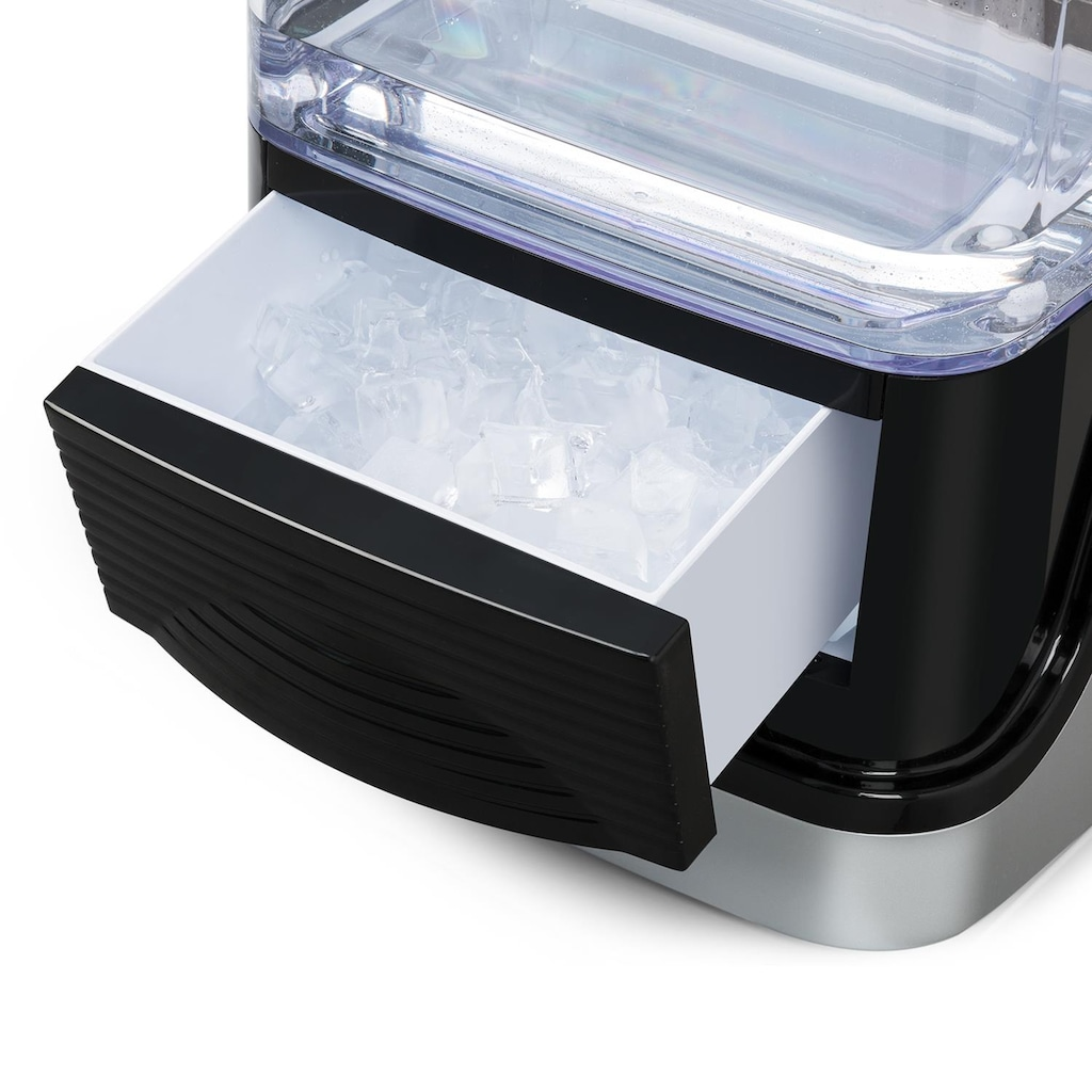 Klarstein Eiswürfelmaschine Eiswürfelbereiter Ice Maker 2 Größen 15kg/24h