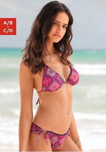 Buffalo Triangel-Bikini, mit Häkelkante in Kontrastfarbe kaufen