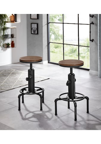 Homexperts Barhocker »Solid«, Industrial Design mit used Look kaufen