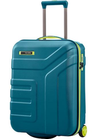 "travelite Hartschalen - Trolley ""Vector, 55 cm, Petrol/Limone"", 2 Rollen kaufen"