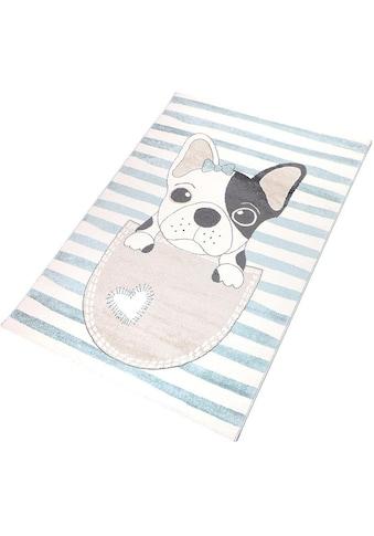 Living Line Kinderteppich »Puppy«, rechteckig, 12 mm Höhe, Spielteppich, Pastell-Farben kaufen