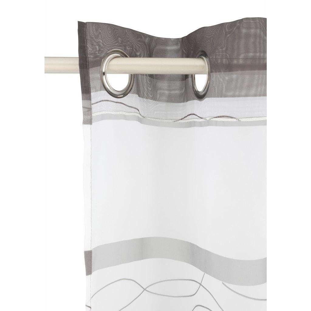 my home Gardine »Jay«, Vorhang, Fertiggardine, transparent