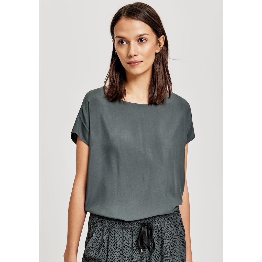 OPUS T-Shirt »Skita«, hinten mit etwas längerem, abgerundetem Saum