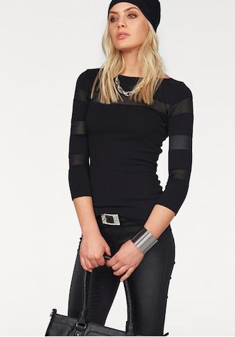 Melrose 3/4 Arm-Pullover, mit transparenten Streifen kaufen