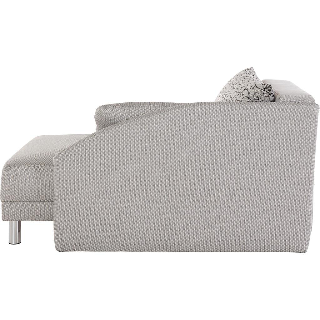 Jockenhöfer Gruppe Recamiere, Chaiselongue mit Schlaffunktion und Bettkasten, inklusive Federkern, links oder rechts montierbar, frei im Raum stellbar