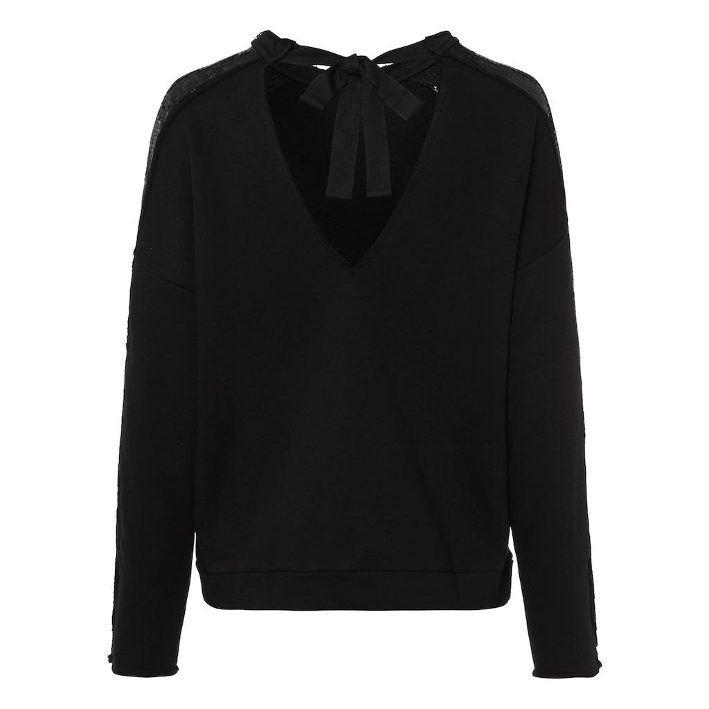 LTB Sweatshirt »NAPAYE«, mit kleinem Rückenausschnitt zum Binden