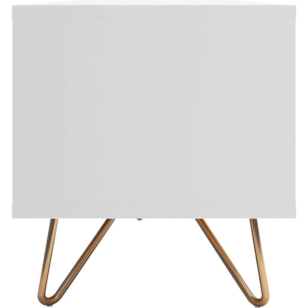SalesFever Lowboard, mit Hairpin Beinen, modernes TV-Board, Fernsehschrank mit Klappendämpfer