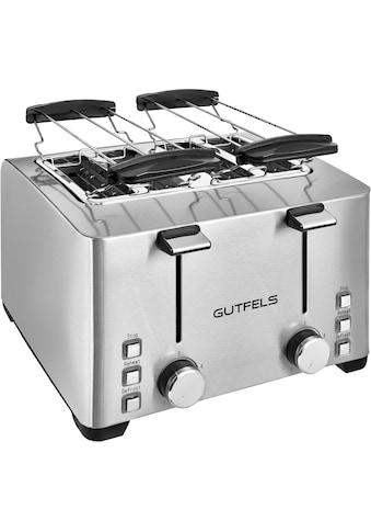 Gutfels Toaster »TA 8301 isw«, 4 kurze Schlitze, für 4 Scheiben, 1500 W kaufen
