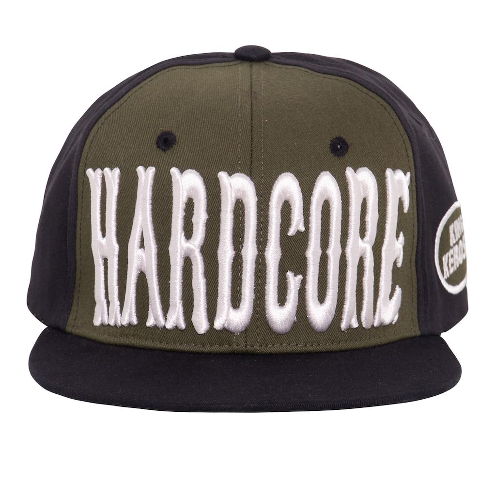 KingKerosin Flat Cap »Hardcore 3D«, mit Print und 3D-Stickerei