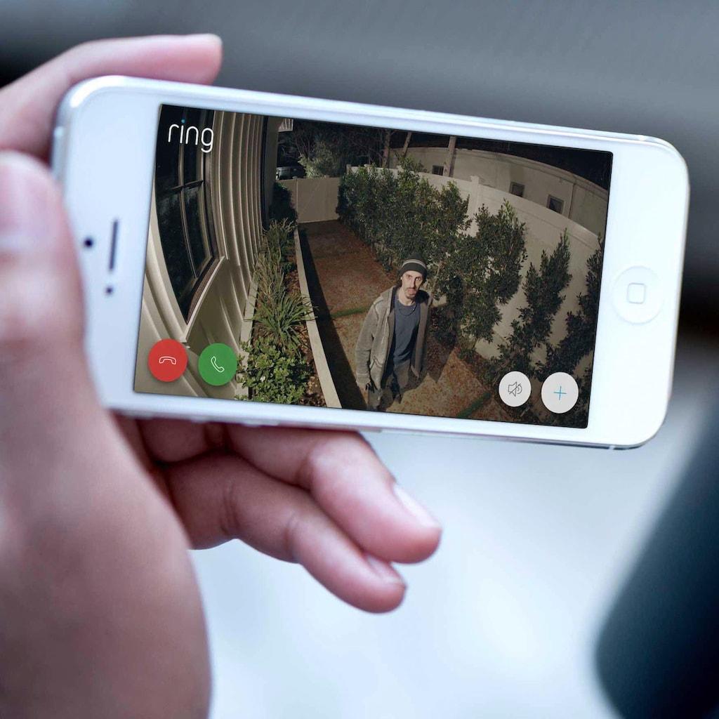 Ring Überwachungskamera »Floodlight Cam«, Außenbereich, eingebauter Lautsprecher, integriertes Mikrofon