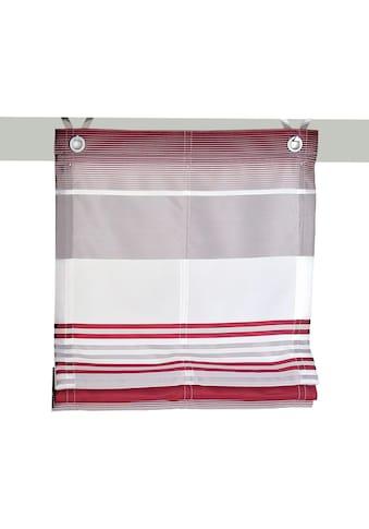 Kutti Raffrollo »Jamaica«, mit Hakenaufhängung, ohne Bohren, freihängend, mit Ösen, incl. Fensterhaken kaufen