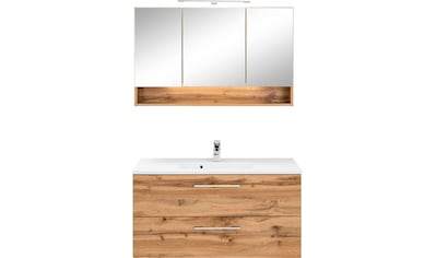 HELD MÖBEL Badmöbel-Set »Soria«, (2 St.), Waschplatz Breite 100 cm, Spiegelschrank kaufen