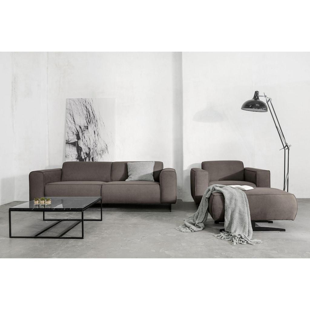 Places of Style 3-Sitzer »Murcia«, mit Federkern, Keder und besonderen Metallfüßen