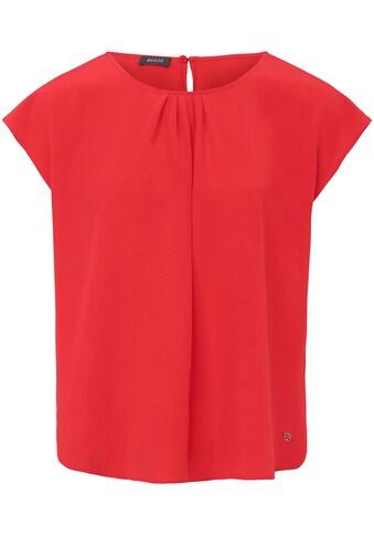 Basler Bluse mit gerafftem Ausschnitt und Kappärmeln kaufen