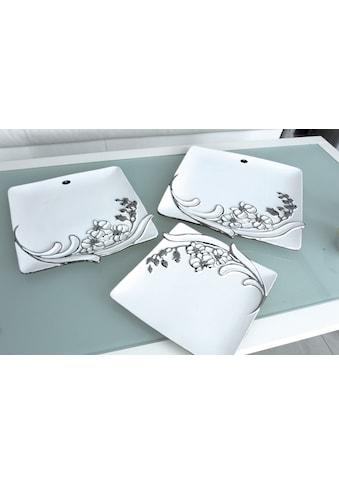 GILDE Dekoschale »Sophia«, aus Keramik, eckig, flach, Wohnzimmer kaufen