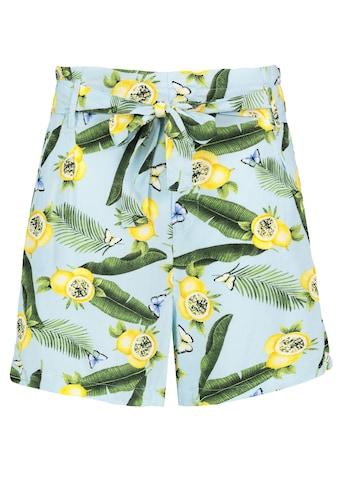 Fresh Made Shorts, mit Print und Gürtel kaufen