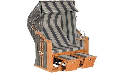 SUNNY SMART Strandkorb »Rustikal 250 Basic 640«, BxTxH: 125x90x160 cm, anthrazit kaufen