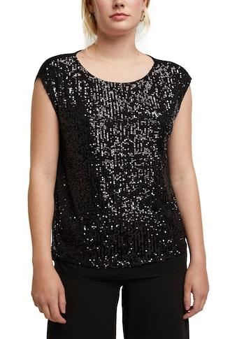 Esprit Collection Paillettenshirt, im Vorderteil mit glitzernden Pailletten in Streifenoptik kaufen