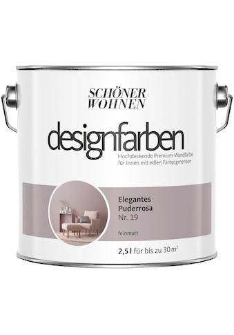 SCHÖNER WOHNEN-Kollektion Wandfarbe »Designfarben«, elegantes Puderrosa Nr. 19,... kaufen