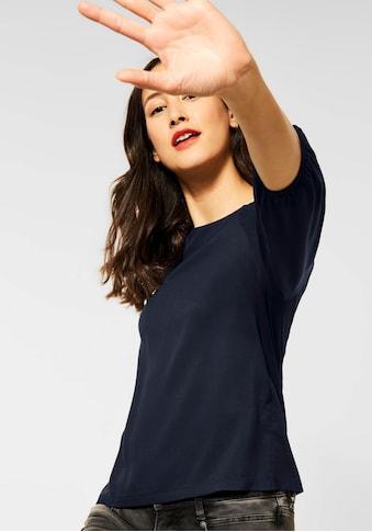 STREET ONE 3/4-Arm-Shirt, mit kleinen Raffungen am Ausschnitt kaufen