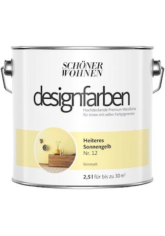 SCHÖNER WOHNEN-Kollektion Wand- und Deckenfarbe »Designfarben«, Heiteres Sonnengelb... kaufen