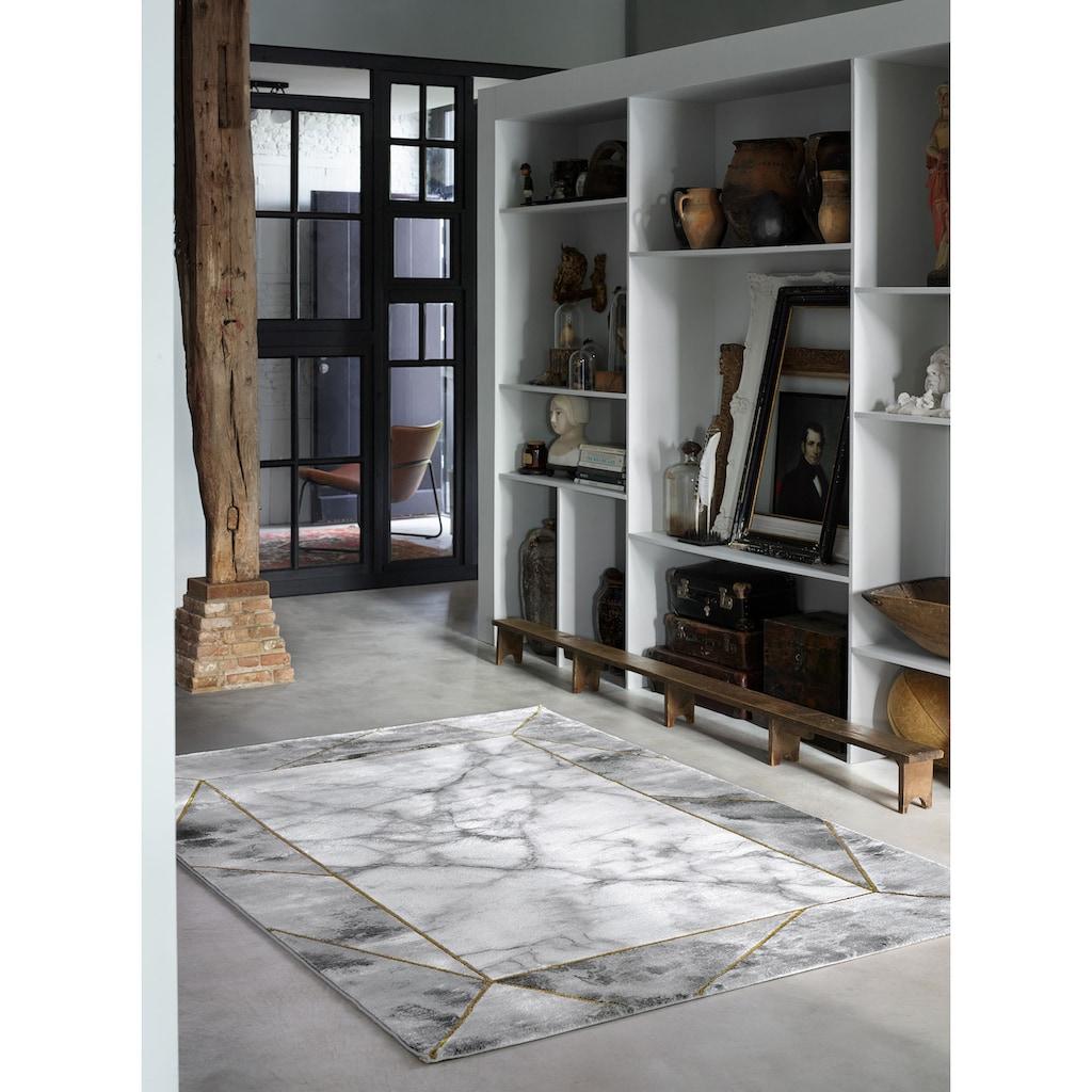 Wecon home Teppich »#M.A.R.B.L.E & B«, rechteckig, 12 mm Höhe, Marmor Struktur, Kurzflor, Wohnzimmer