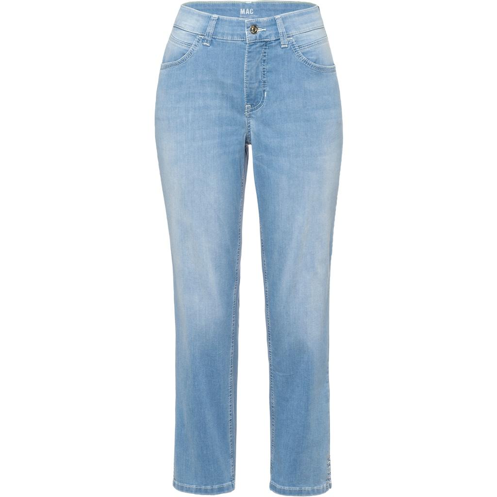 MAC 7/8-Jeans »Melanie Summer power«, Mit Glitzer-Nieten am Saum und der hinteren Tasche