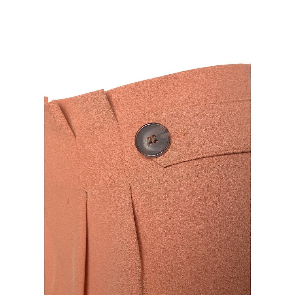 LASCANA Palazzohose, in Paperbag-Form mit Zierknöpfen