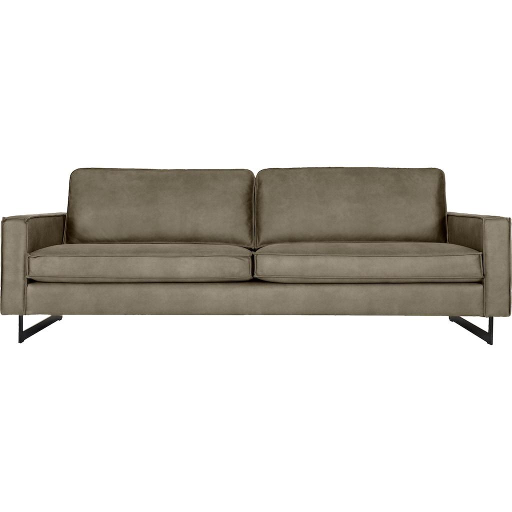 Places of Style 3-Sitzer »Pinto«, Maxi-Ausführung, mit Keder und Metallfüßen, auch mit Cord Bezug