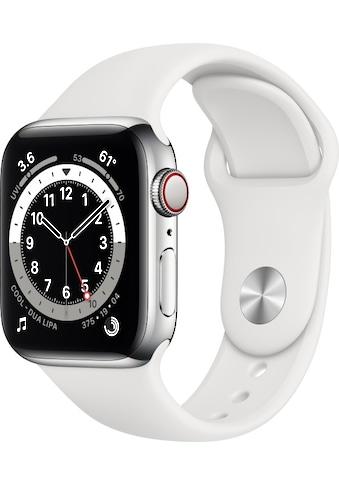 Apple Smartwatch »Series 6, GPS + Cellular, Edelstahl-Gehäuse, 40 mm mit... kaufen