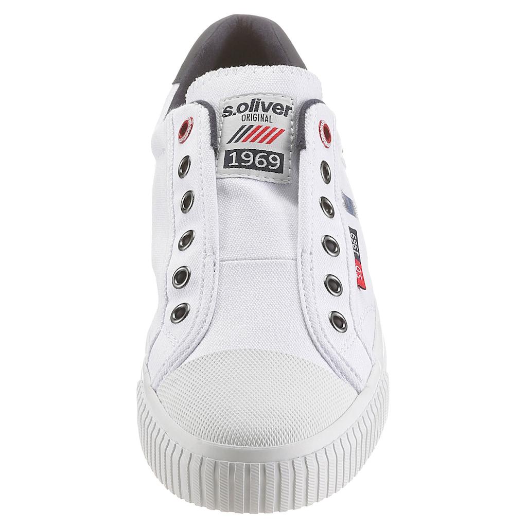 s.Oliver Sneaker, in modischer Jeans-Optik