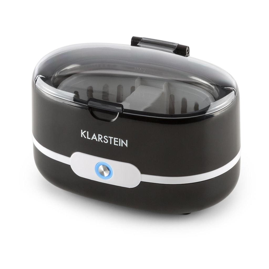 Klarstein Ultraschallreiniger schwarz Schmuck Brillen Münzen Uhren