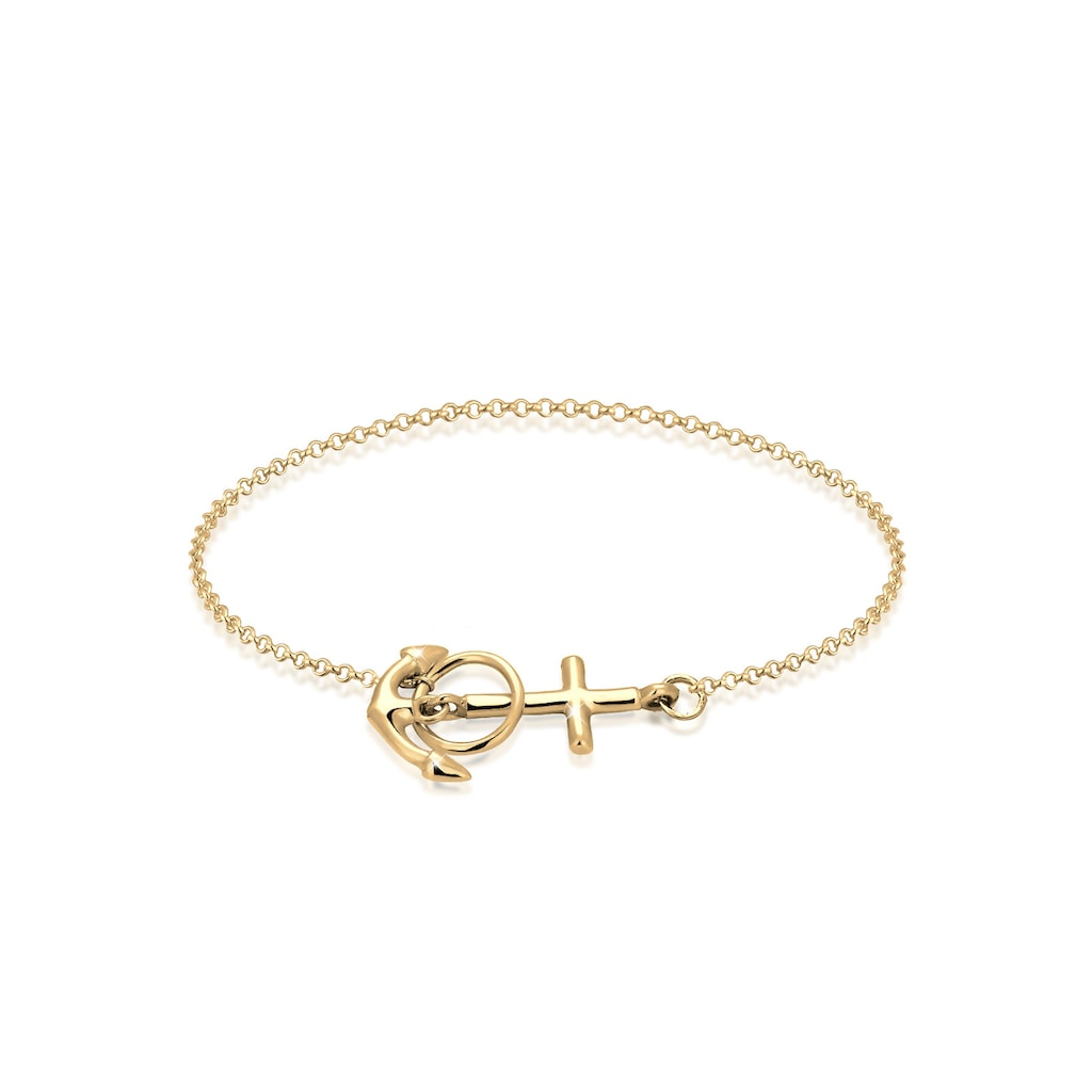 Elli Armband »Anker Kreuz 925 Silber«