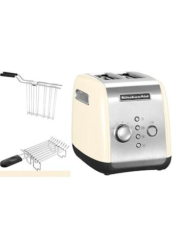 KitchenAid Toaster »5KMT221EAC«, 2 kurze Schlitze, für 2 Scheiben, 1100 W, mit... kaufen