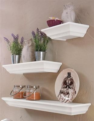 weiße Wandboards im Landhausstil