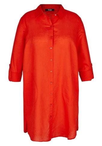 FRAPP Hemdbluse, mit unifarbenem Stoff kaufen