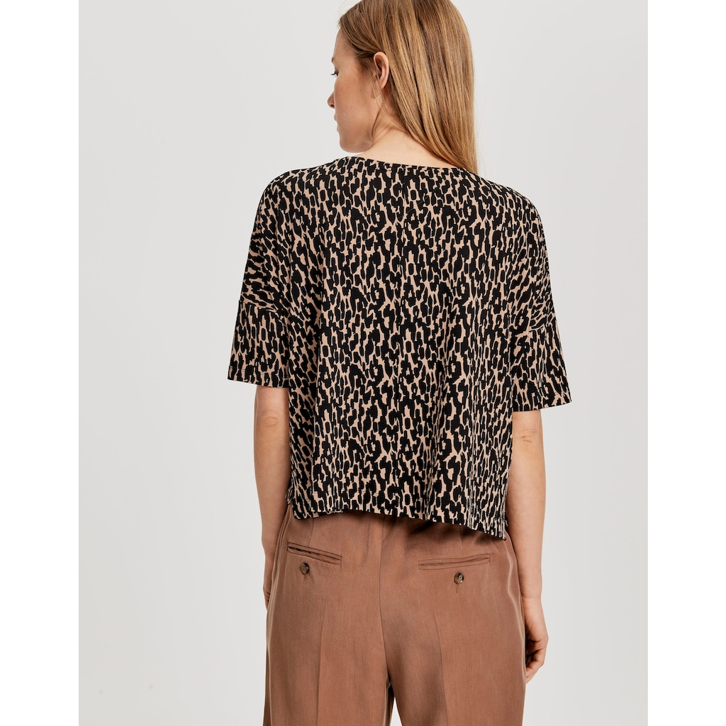 OPUS T-Shirt »Solika abstract«, im Animal-Print
