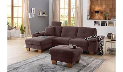 Home affaire Ecksofa »Laverna«, wahlweise mit Bettfunktion in 4 Bezugsqualitäten, Recamierenabschluß kaufen