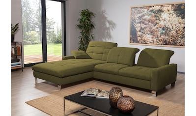 ADA trendline Ecksofa »Robin«, inkl. Sitztiefenverstellung, wahlweise mit Bettfunktion und Bettzeugraum kaufen