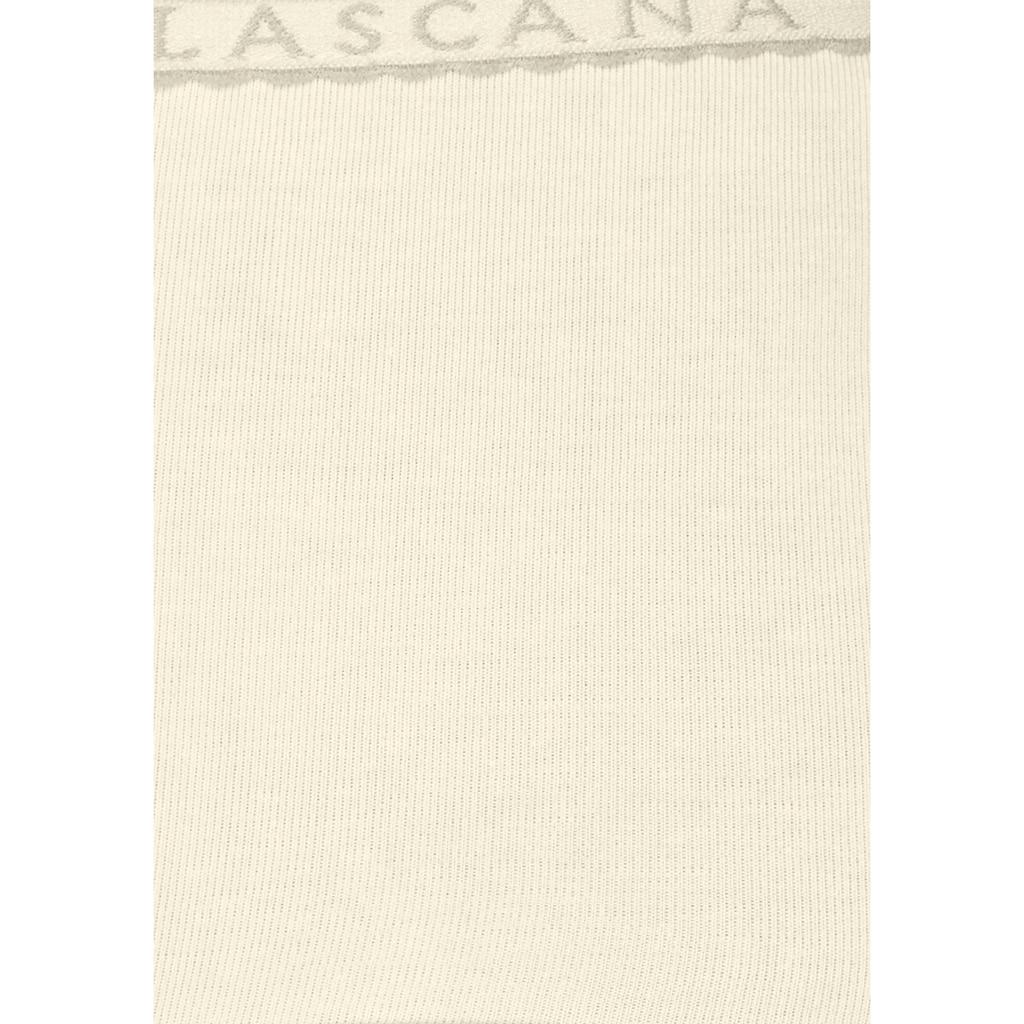 LASCANA Panty, (4 St.), mit schmalem Logobündchen