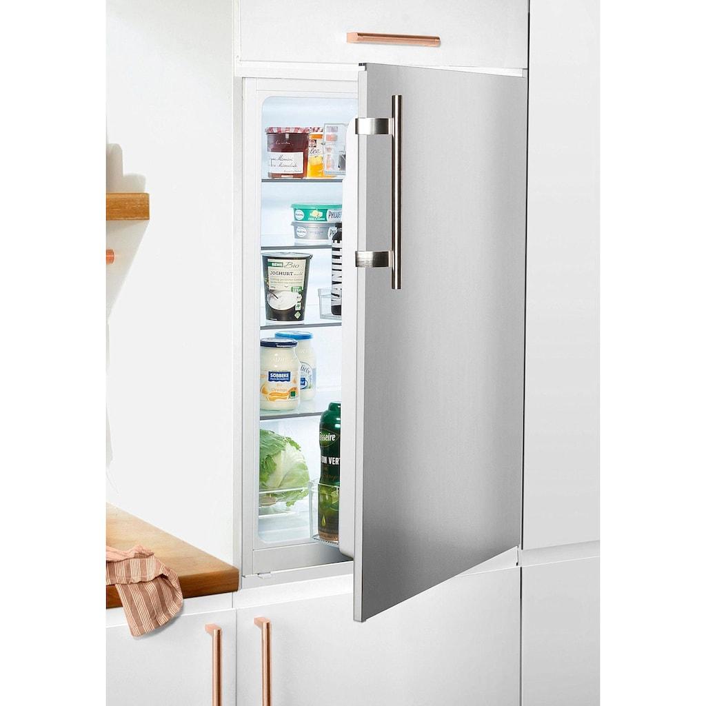 Amica Einbaukühlschrank »EVKS 351 190 E«, mit Edelstahltür