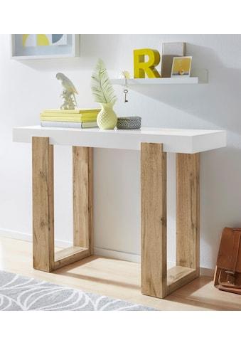 INOSIGN Konsolentisch »Solid«, mit schönem Beingestell und einer weißen Tischplatte, Breite 110 cm kaufen