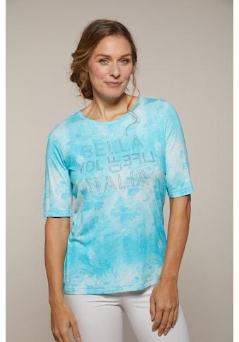 Hajo Kurzarmshirt, mit Aquarellprint kaufen