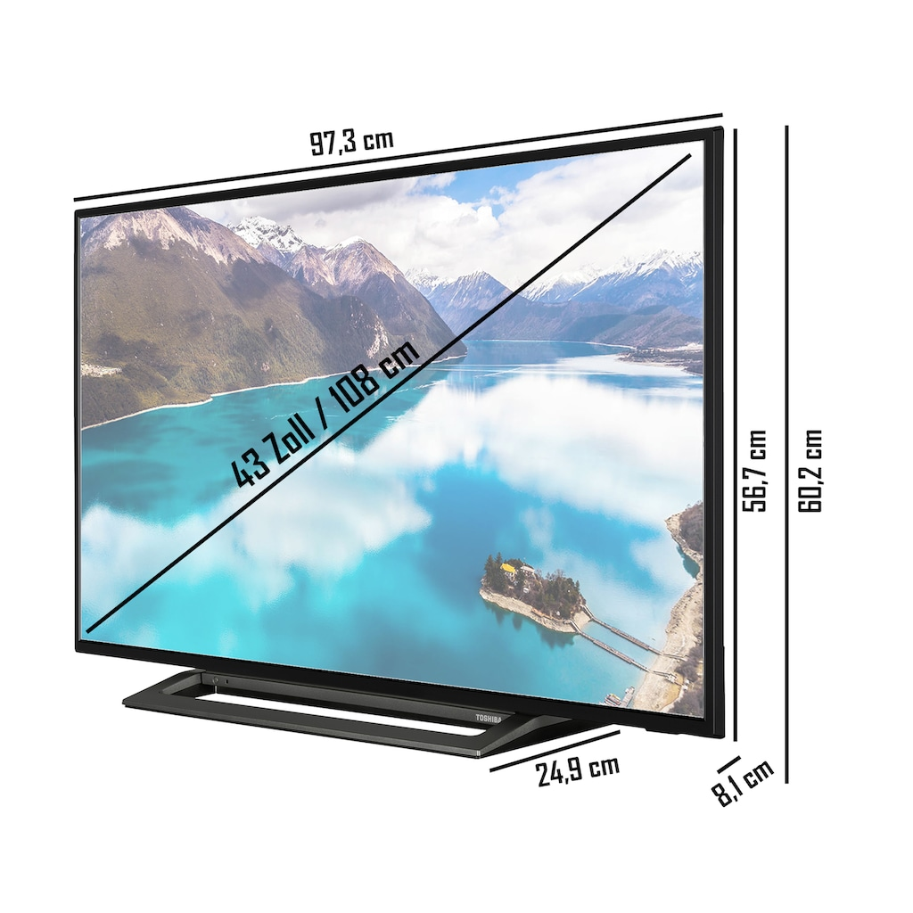 "Toshiba LED-Fernseher »43LL3C63DA«, 108 cm/43 "", Full HD, Smart-TV"