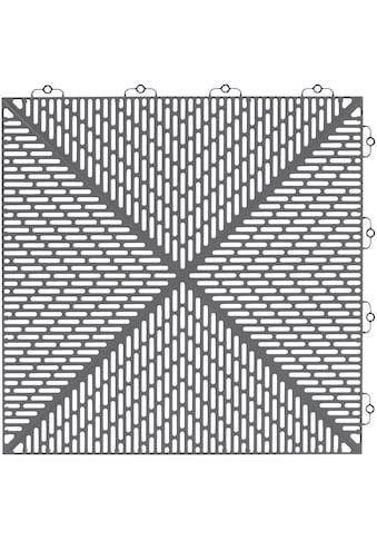 Bergo Flooring Terrassenplatten »Unique Steingrau«, Kunststofffliesen, einfach ineinanderstecken, 2m² kaufen