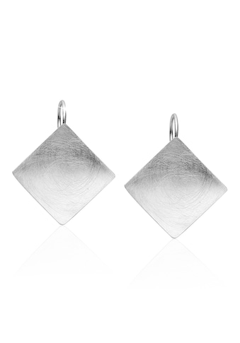 Nenalina Paar Ohrhänger »Basic Geo Viereck Brushed Trend 925 Silber« kaufen