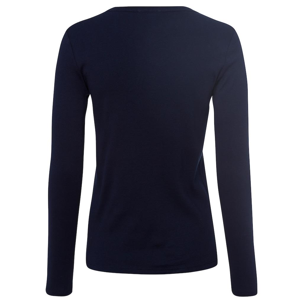 United Colors of Benetton Langarmshirt, im Basic-Look