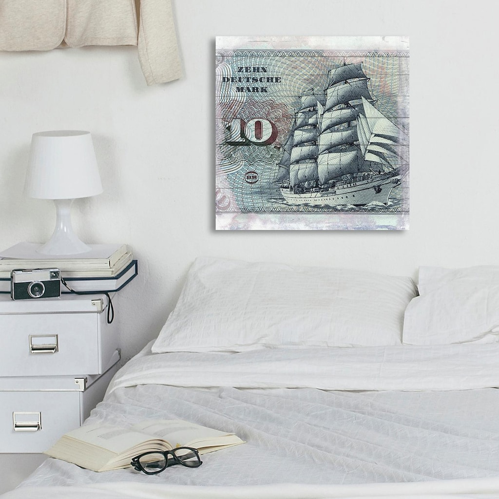 Home affaire Holzbild »Zehn deutsche Mark«, 40/40 cm