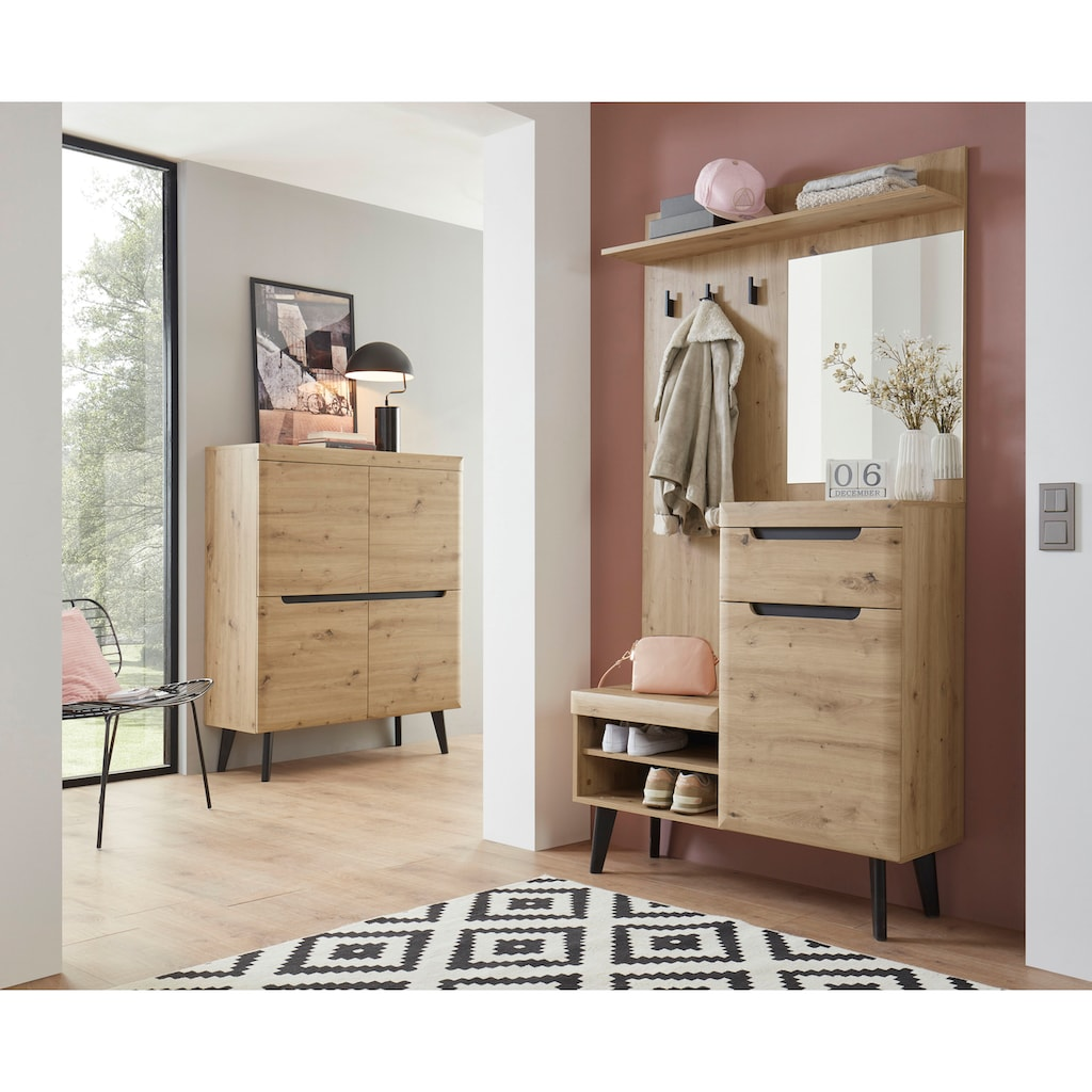 my home Garderoben-Set »Torge«, (Set, 2 tlg.), im schönen Scandi Look